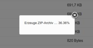 Fortschrittsbalken beim Download von ZIP-Dateien