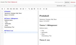 Markdown Dateien können entweder direkt im Webbrowser oder in einem Texteditor bearbeitet werden.
