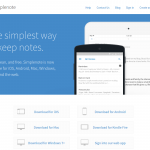 "Simplenote verspricht ""The simplest way to keep notes"""