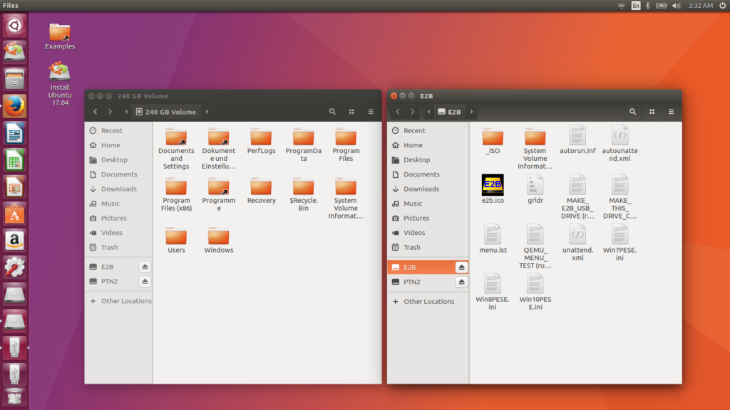 Screenshot Ubuntu Live System