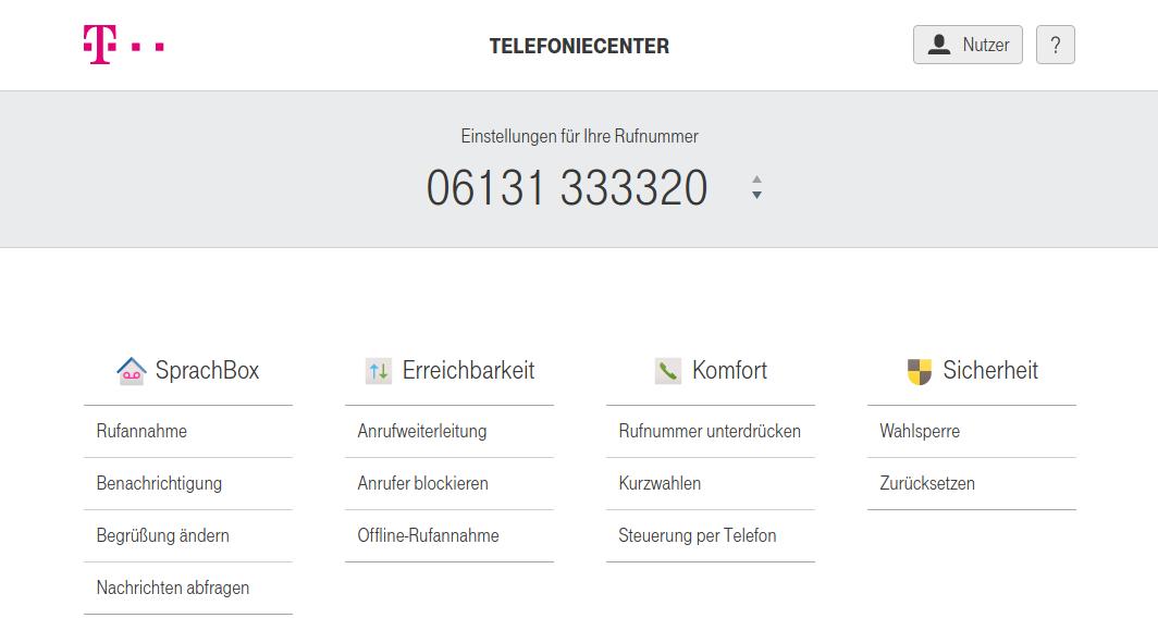 Deaktivierung sämtlicher Weiterleitungen oder Blockierungen im Telefoniecenter