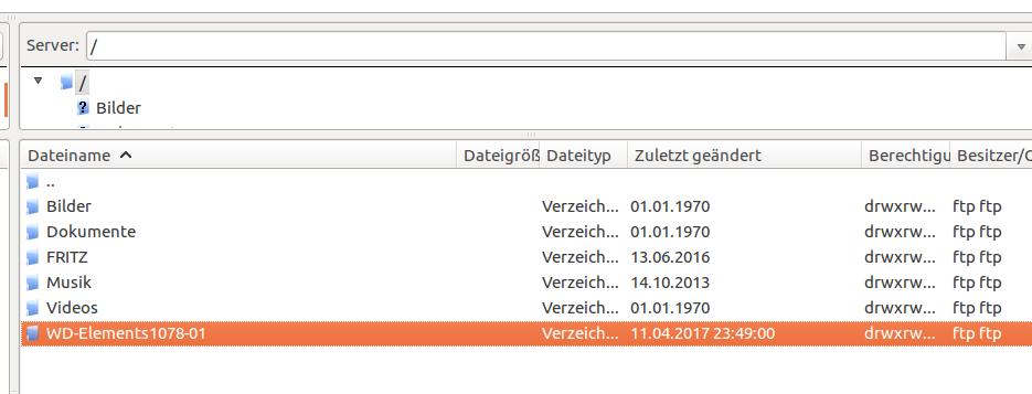 Testen Sie die FTP-Verbindung mit FileZilla