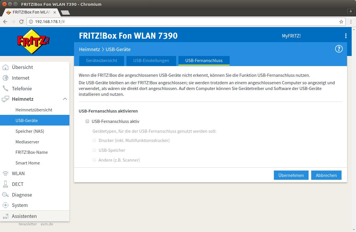 FTP-Speicher an der Fritzbox für Duplicity Backup