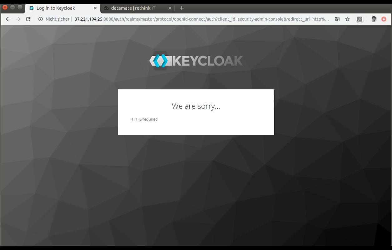Keycloak erfordert HTTPS