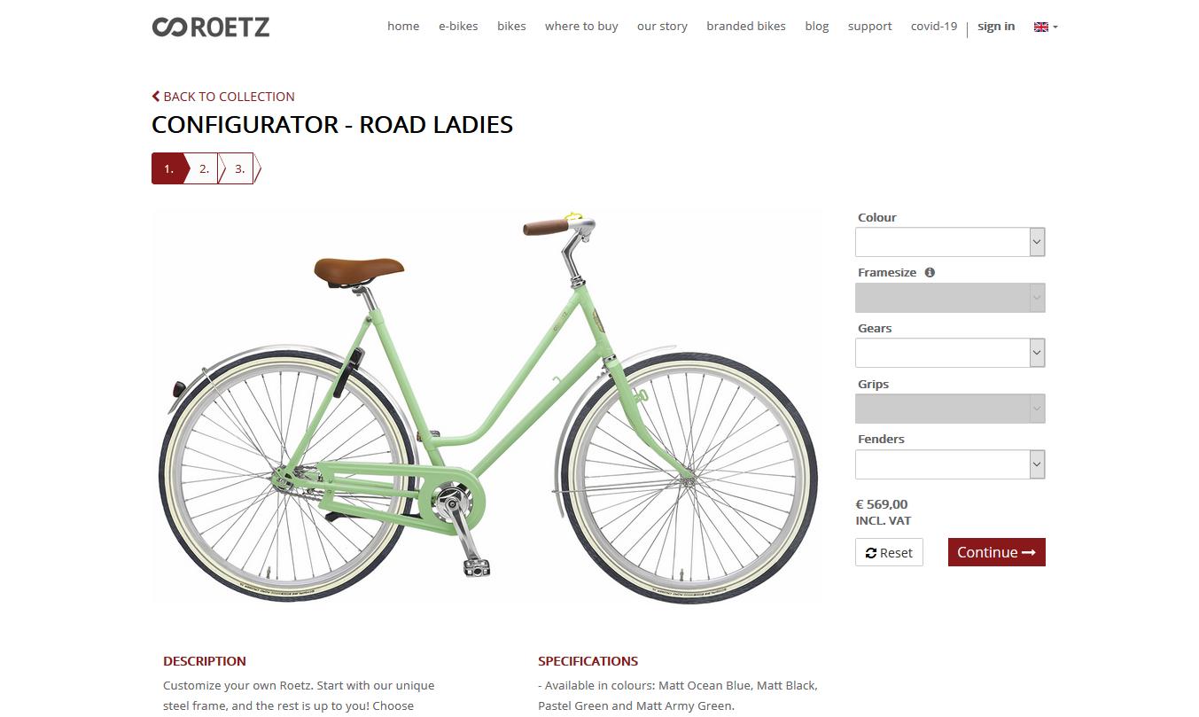Screenshot Odoo Webshop Roetz Bikes