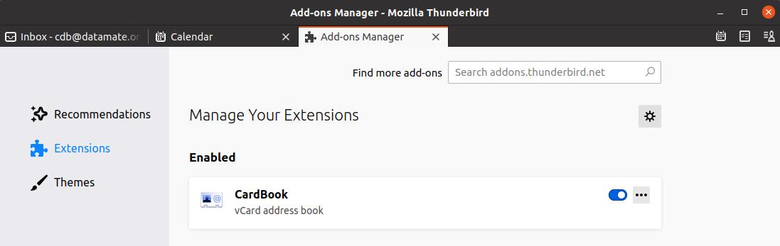 Thunderbird 78 unterstützt nun ohne Plugin die Terminsynchronisation von Homie und Fellow